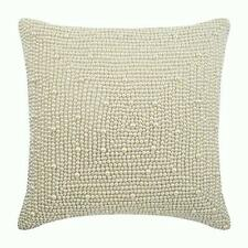 Silk Luxury 20x20 inch Pillow Cover Ivory, Pearl Illusion Pattern - Pearl World