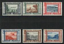 S34316) Italien MNH 1933 Zeppelin 6v