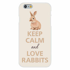 Keep Calm and Love Rabbits Small Bunny FITS iPhone 6+ Plastic Snap On Case Cover