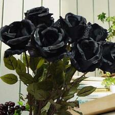 Large Head Open Rose Branch Silk Artificial Fake Flowers Wedding Home Decor Gift