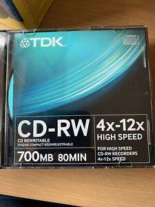 TDK CD-RW Discs x8, brand new