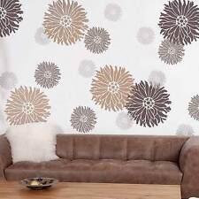 Starburst Zinnia Wall Art Stencil - SMALL - Reusable DIY Floral Wall Design