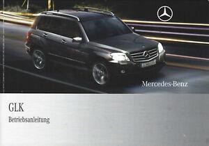 MERCEDES GLK-Klasse X204 Betriebsanleitung 2008 Bedienungsanleitung Handbuch BA