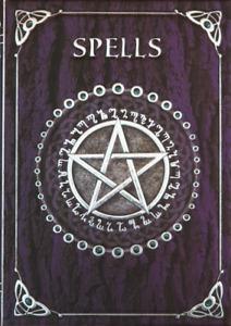 Nemesis Now PURPLE SPELL BOOK Shadows Pentagram Wicca Pagan Witch Journal 17cm