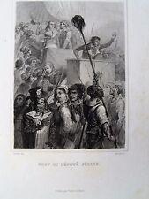 bi4-15 Gravure sur acier XIXe mort du Député Féraud révolution française