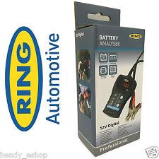 Anillo 12v Batería Sistema Eléctrico Tester analizador vehículo van Tractor rba50