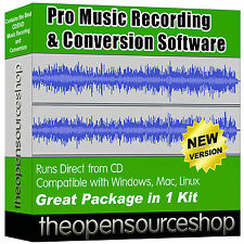 Pro Music Editing Software Pack - Audio File Converter & Digital Sound Recorder
