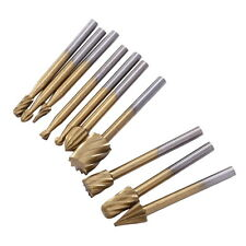10Pcs HSS Wood Router Bits Files 3mm Cutter Milling Engraving Rotary Tool Set