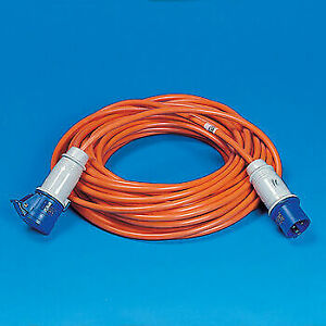 25 METRES MAINS CONNECTION CABLE HOOK UP, CAMPER , MOTOR HOME, CARAVAN, CAMPING