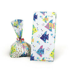 12 Tropical Fish Cellophane Goody Bags Candy Birthday Party Event Under the Sea