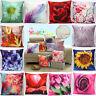 Linen Cotton 3D Plush leaves Flower Throw Cushion Cover Pillow case Home Decor