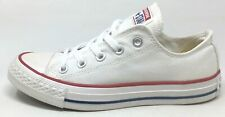 Converse Womens All Star OX Flat Sneaker Shoes Optical White Canvas Size 6