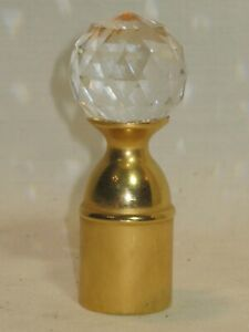 multi faceted crystal finial topper ornate glass sphere metal base