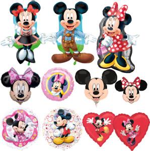 Mickey & Minnie Maus Luftballons xxl Folienballon Geburtstag Helium Kinder Party