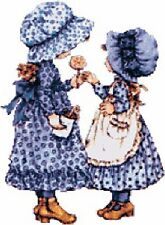 Cross Stitch Chart Graph Holly Hobbie Blue Needlework Aida Picture Design Hobby