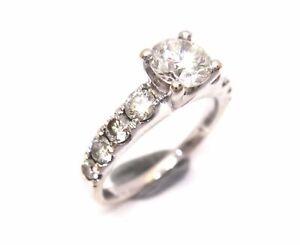 18CT White GOLD & Multi Brilliant Cut DIAMOND Ring VAL $6,050