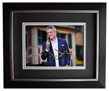 Andrea Bocelli Signed 10x8 Framed Autograph Photo Display Classical Music COA