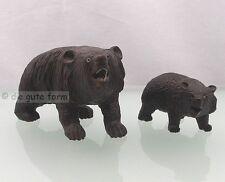 2 carved antique BLACK FOREST WOODEN BEAR - 2 gehende Bären, aus dem Schwarzwald