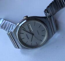 Rado Mens Quartz Battery Stainless Steel Wrist Day Date Swiss Watch