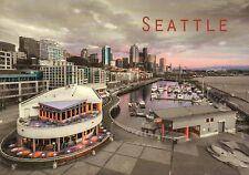 Seattle Waterfront, Boats in Harbor, Skyline, Washington State, WA --- Postcard