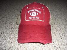 BUDWEISER FOOTBALL - DISTRESSED - BASEBALL HAT CAP - NWOT