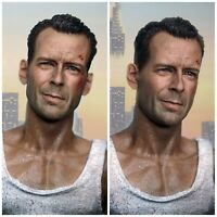 John McClane Die Hard Bruce Willis Kopf 1/6 Head Sculpt Hot Toys Action Figur