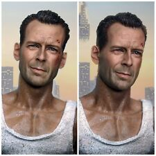 John McClane Die Hard Bruce Willis Kopf 1/6 Head Sculpt Hot Toys Action Figur