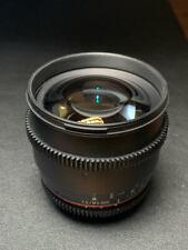 Rokinon 85mm cine for nikon T1.5