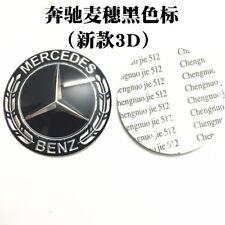 3D Steering Wheel Badge Emblem Sticker For Mercedes-Benz New Logo Black 52mm 102