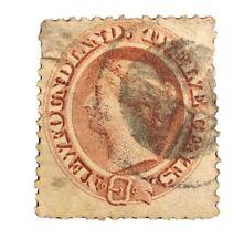 Newfoundland 1865 Scott 28 / SG 28 12c Pale Red Brown Canada CV $50