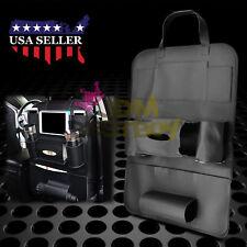 Black Car Seat Back Storage Bag Organizer synthetic leather iPad iPhone Holder
