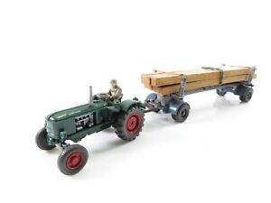 Wiking 1:87 383/4C Traktor # 391/5C Kantholzanhänger #2022