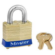 """Master Lock 1-9/16"""" Wide Laminated Brass Pin Tumbler Padlock, Keyed Alike"""