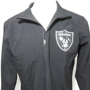 Las Vegas Laborers Union 872 Raiders Stadium L Black Soft Shell Jacket Team 365