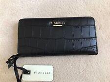 Fiorelli Ladies Large Zip Around Black Clutch Purse Wallet - BNWT & Packaging
