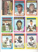 1975 TOPPS CLEVELAND INDIANS TEAM SET-26 GD-VG-EX, FRANK ROBINSON, GAYLORD PERRY