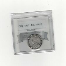 **1927**, Coin Mart Graded Canadian, Silver 25 Cent, **VG-10**
