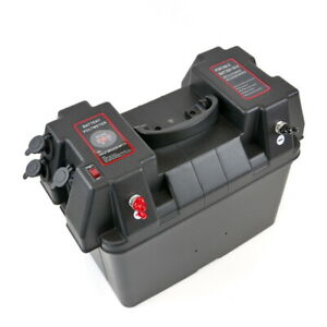 Trolling Motor Battery Power Box, 12V 60A fused output, 2xUSB, 2xLighter sockets