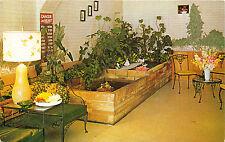 BELLVILLE OHIO OH THE SAN DAR SMORGASBORD LOBBY POSTCARD 1960s M/M EUGENE BANKS
