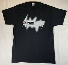 Vintage 1998 Delta Front 242 Black White Band T Shirt Size Large Industrial