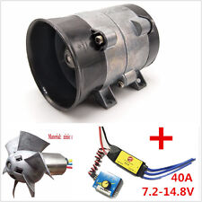 Car Electric Supercharger Turbos intake Fan Boost 12V 16.5A + ESC40A Airplane