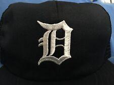 Vintage DETROIT TIGERS Trucker Cap MLB Hat Gibson Morris Trammel Whittaker LARGE
