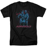 Airwolf Classic TV Series Retro 80's Jan-Michael Vincent graphic t-shirt NBC280