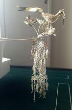 100%Handmade Miao Silver Tassel Phoenix Woman Hairpin Headdress W127