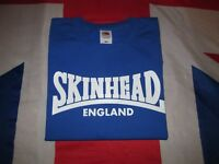 Skinhead England T Shirt royal blue