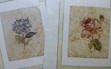 2 Candamar Cheri Blum Hydrangea & Rose Embellished Cross Stitch Kits Lot