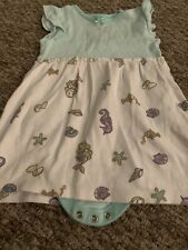 Baby Girls Dress 9-12 Months With Built In Vest