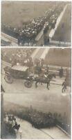 1904 Cambridge University Graduation Ceremonies - Three Real Photo Postcards