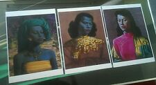 Tretchikoff three beautiful A3 prints retro kitsch vintage green lady