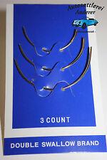 3 Gebogene Nadeln-Sattlernadeln und drei Meter Rasantfaden !